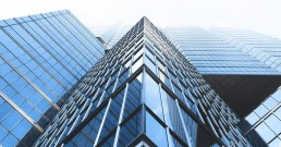 a glass skyscraper