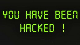 Analog text which reads 'You have been hacked!'